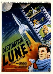 Destination Lune 1950 affiche fra
