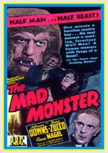 Mad Monster 1942 programme drive in movie channel